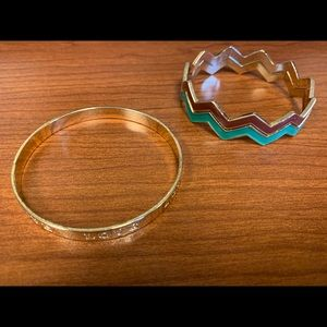 LC Lauren Conrad bangle with 2 other stackables